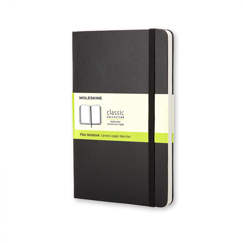 Moleskine notebook pocket zwart harde  kaft effen