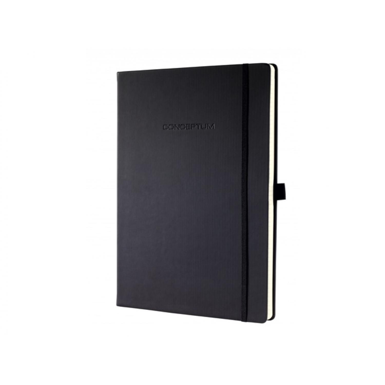SIGEL notitieboek Conceptum PURE zwart A4 gelijnd