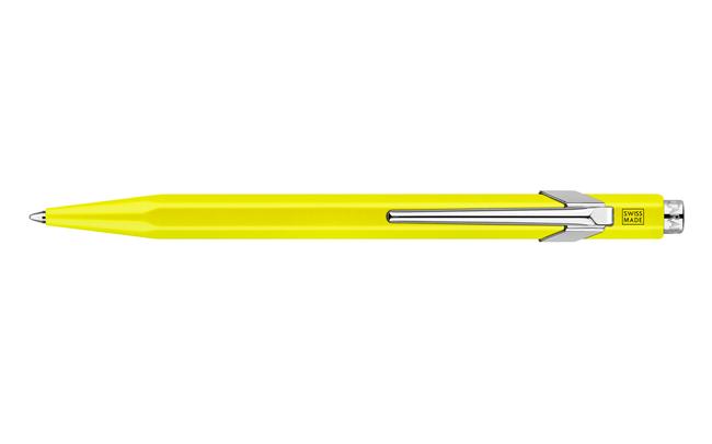 Caran d'Ache  849 balpen  fluo geel