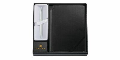 Cross CALAIS Balpen  Satin chrome Pen Pouch and TrackR bravo Gift Set