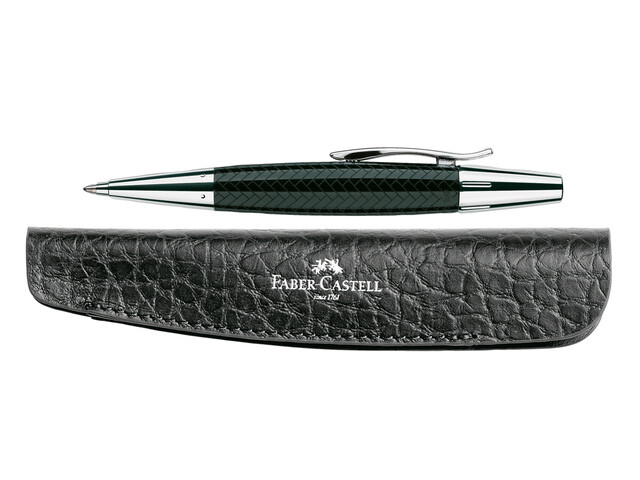 Faber-Castell Balpen E-motion parket zwart + GRATIS etui