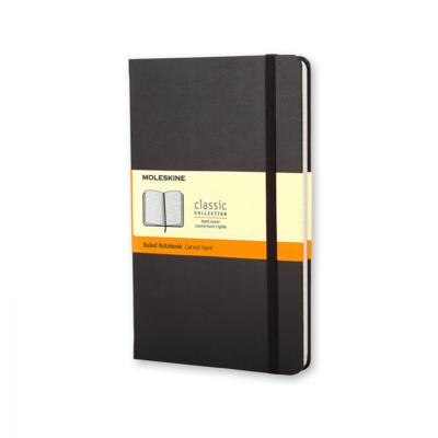 Moleskine notebook pocket zwart gelijnd