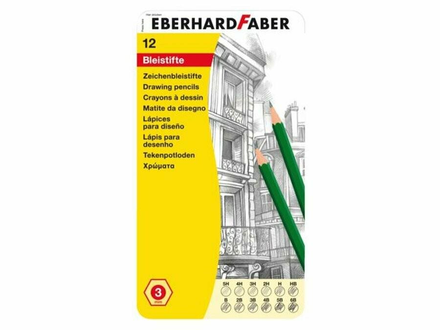 Eberhard Faber potloden12 hardheden van 5H tot 6B