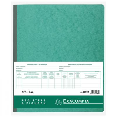 Exacompta aandeelhouder register voor NV