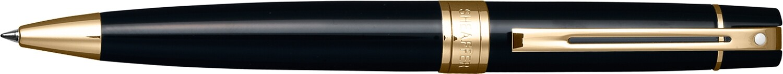 Sheaffer 300 balpen   glossy black gold trim