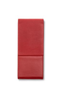 Lamy Lederen pen etui  rood voor 3 pennen