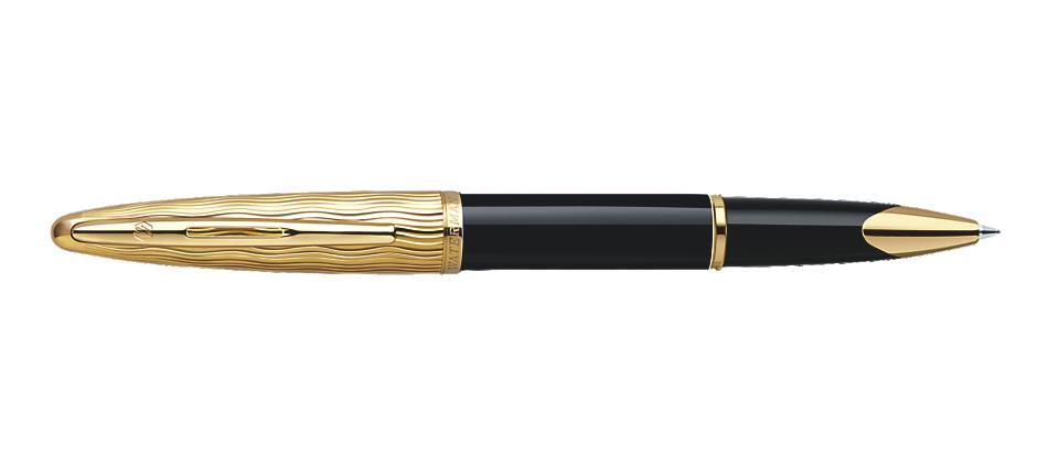 Waterman Roller CARENE  Essential Black & Gold Chiselled Gt