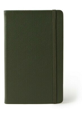 Moleskine Classic Leather collection large gelijnd groen