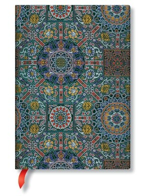 Paperblanks notitieboek Sacred Tibetan Textiles - Padma - Midi effen