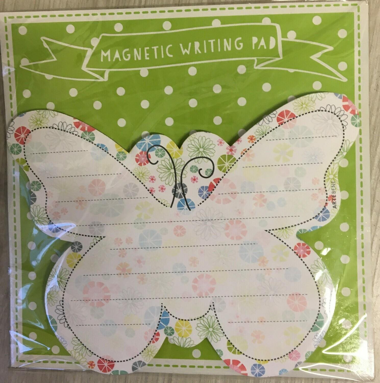 Magnetisch notitieblok vlinder