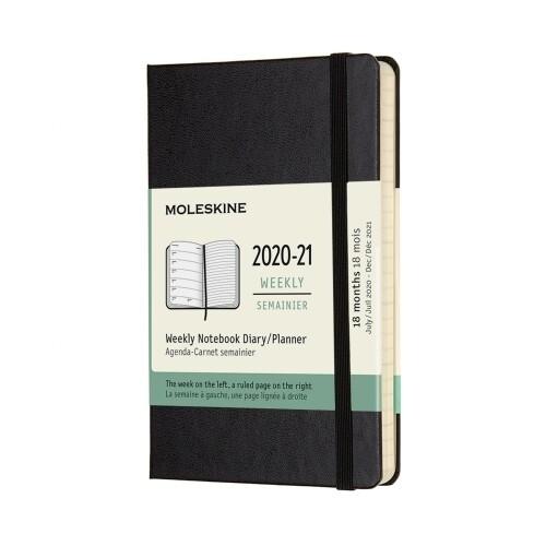 Moleskine Agenda large weekly notebook zwart 2020-2021 harde kaft