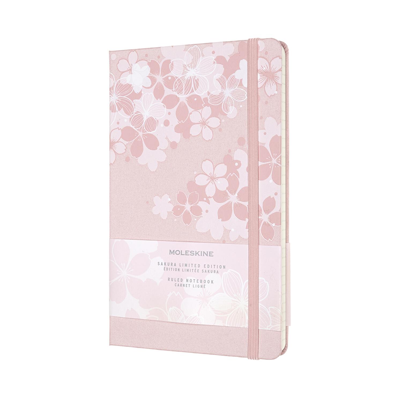 Moleskine notebook large SAKURA lim.ed. donkerroze