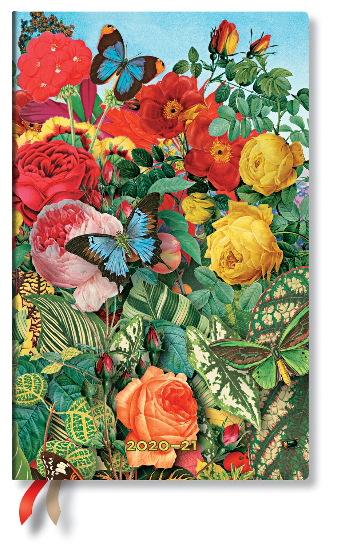 Paperblanks agenda 18 maand 20-21  MAXI Vlindertuin