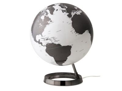 Wereldbol Bright Charcoal 30 cm met verlichting
