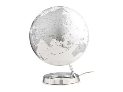 Wereldbol Bright Chrome 30 cm met verlichting