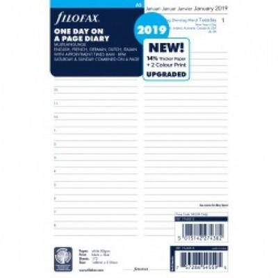 Filofax Agendavulling A5 1 dag per blad 2021