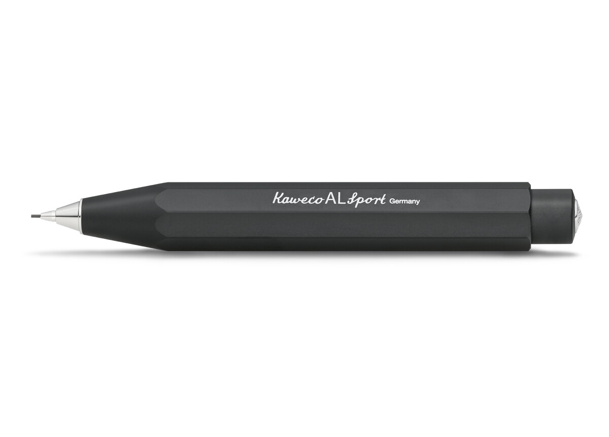 Kaweco vulpotlood AL SPORT ALU BLACK