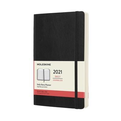Moleskine  DAG agenda large zwart 2021