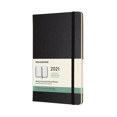 Moleskine  agenda pocket  weekly horizontal pocket  zwart 2021