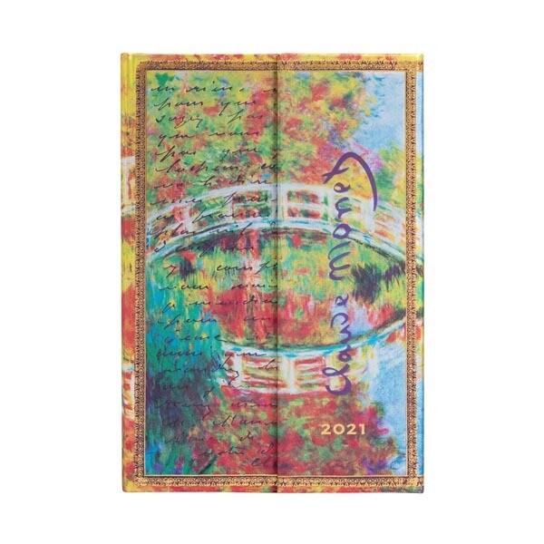 Paperblanks agenda 2021 Monet (De brug) Brief aan  Morisot MINI