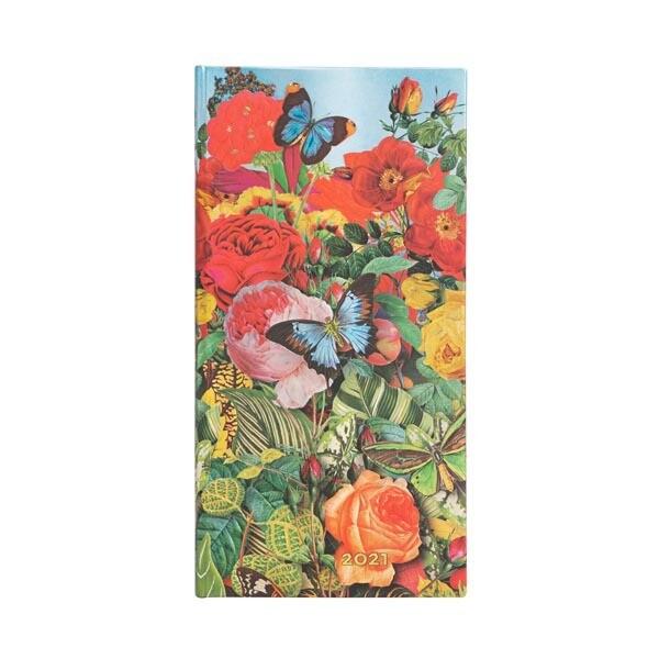Paperblanks agenda 2021 Butterfly Garden SLIM