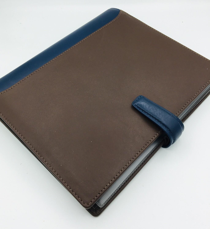 Filofax Organiser Nappa blue/chocolate A5