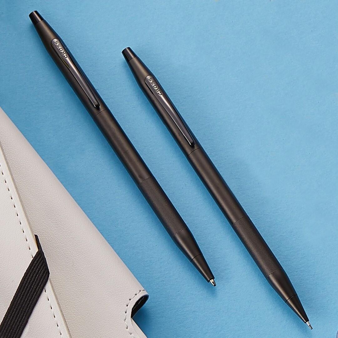 Cross classic century Pen & pencil set Micro Knurl finish black