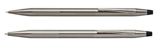 Cross classic century Pen & pencil set Micro Knurl finish titanium