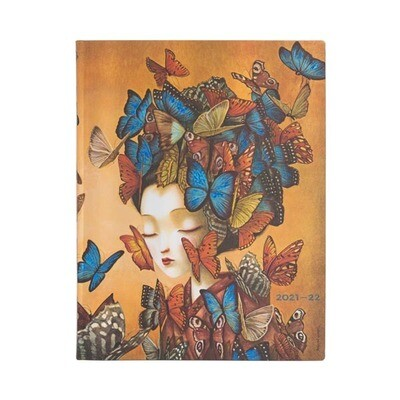 Paperblanks agenda 18-maand 2021-2022 - Madame Butterfly - ultra