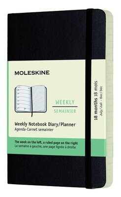 Moleskine Agenda large weekly notebook zwart 2021-2022  soepele   kaft