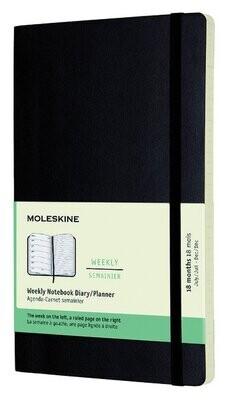 Moleskine agenda weekly notebook 2021-2022 large harde kaft