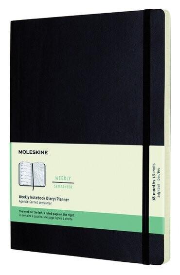 Moleskine Agenda XL weekly notebook zwart 2021-2022
