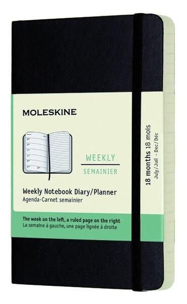 Moleskine agenda  weekly notebook pocket 2021-2022 soepele kaft