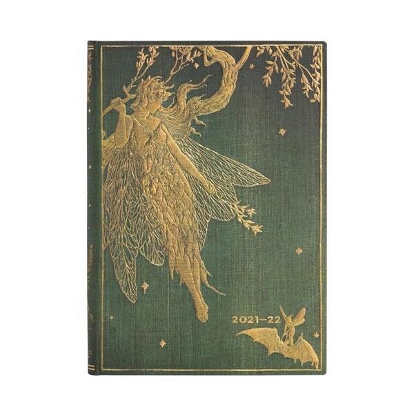 Paperblanks agenda 18-maand 2021-2022 - Olive Fairy MIDI