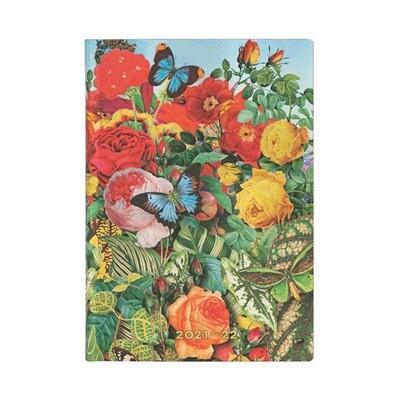 Paperblanks agenda 18-maand 2021-2022 - Butterfly garden MIDI