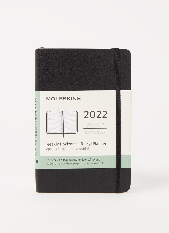 Moleskine  agenda pocket  weekly horizontal  zwart 2022