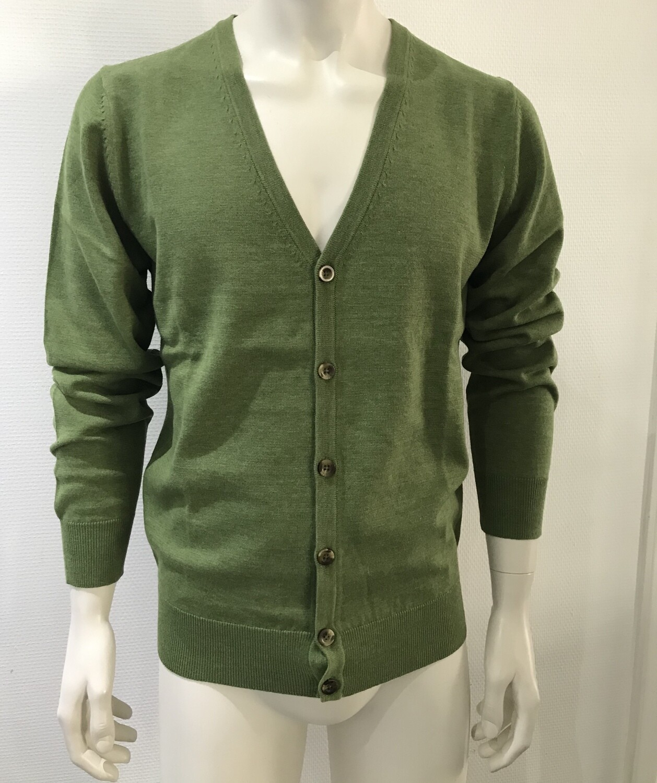 cardigan cotton green