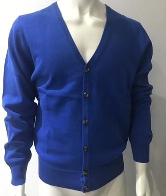 cardigan cotton blue