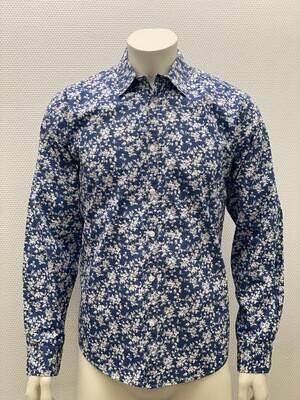 hemd lm bloem print klein blue