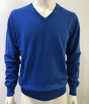 pull v-neck uni blue