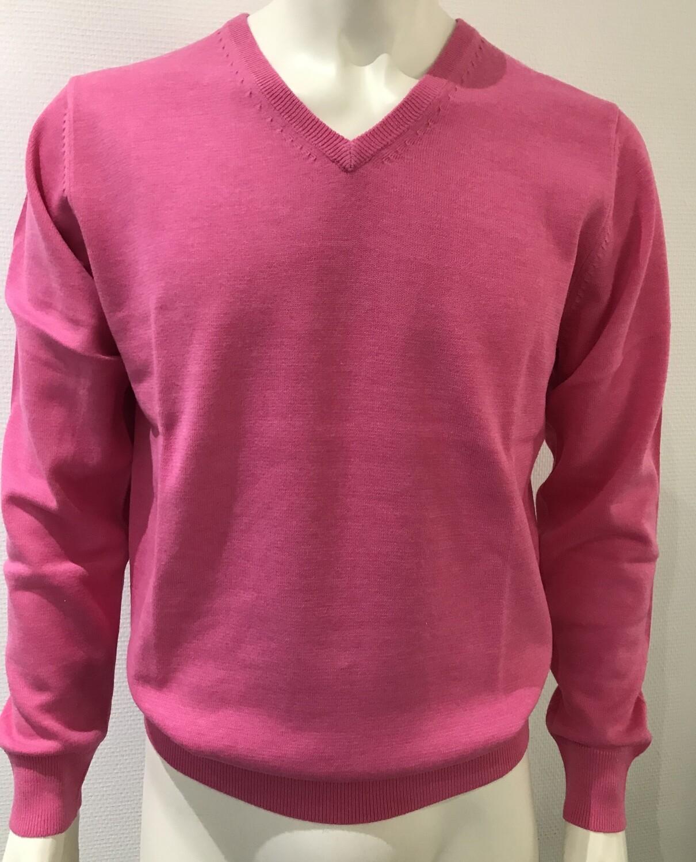 pull v-neck uni pink
