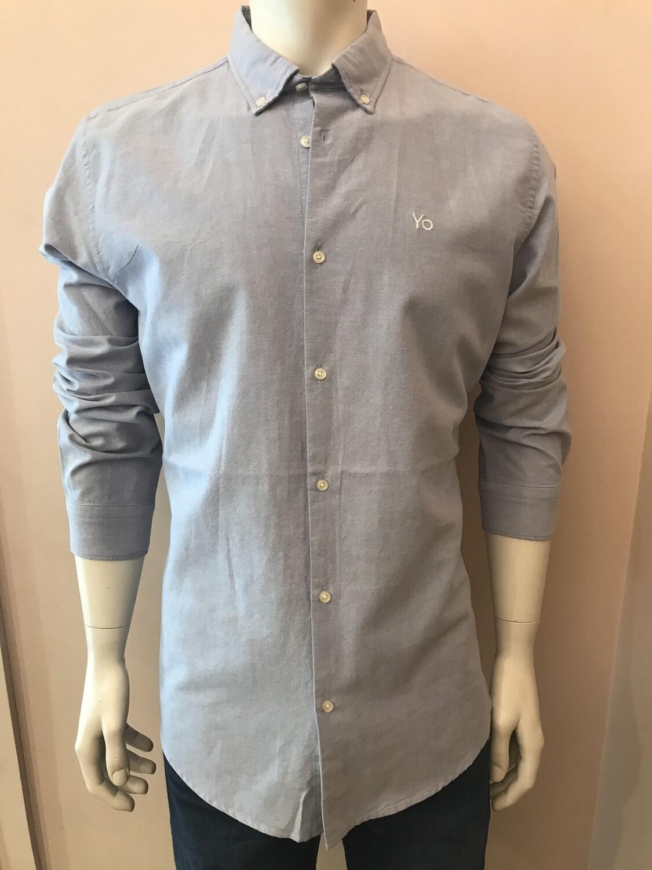 Shirt, L/S, Oxford L bleu