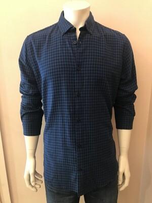 Shirt, L/S, Vich bleu, Flanel
