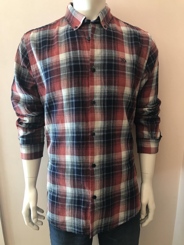 Shirt, L/S, square, burgundy