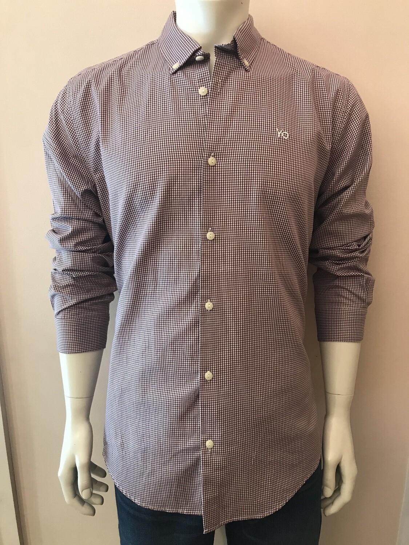 Shirt, L/S, micr vich Burgundy