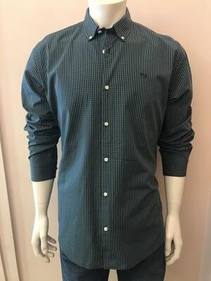 Shirt, L/S, micr vich, green