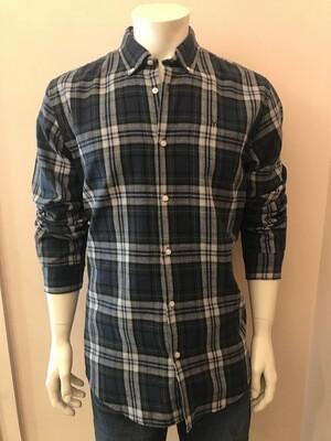 Shirt, L/S, Square flan green
