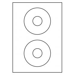 CD Label Rond 114 mm, 2 ex./vel