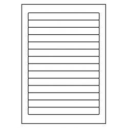 Rechthoek 178 x 18 mm, 14 ex./vel