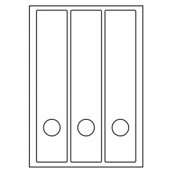 RUG-ETIKETTEN VOOR BREDE ORDNERS + GAT, 58 x 280 mm